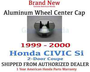 Genuine Oem Honda Civic 2dr Si Aluminum Wheel H Center Cap 1999 2000