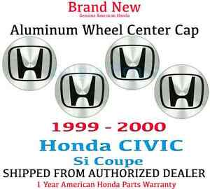 1 Set Genuine Oem Honda Civic 2dr Aluminum Wheel H Center Cap