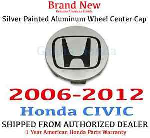 2006 2012 Honda Civic Genuine Oem Silver Painted Aluminum Wheel Center Cap