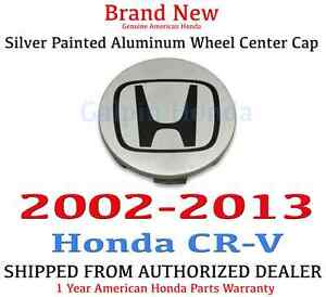 2002 2013 Honda Cr v Genuine Oem Silver Painted Aluminum Wheel Center Cap
