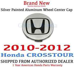 2010 2012 Honda Crosstour Genuine Oem Silver Painted Aluminum Wheel Center Cap