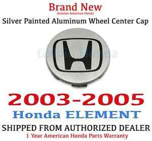 2003 2005 Honda Element Ex Genuine Oem Silver Painted Aluminum Wheel Center Cap