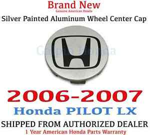 2006 2007 Honda Pilot Lx Genuine Oem Silver Painted Aluminum Wheel Center Cap