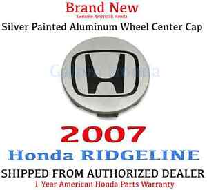 2007 Honda Ridgeline Rts Rtl Oem Silver Painted Aluminum Wheel Center Cap