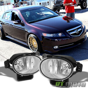 2007 2008 Acura Tl Bumper Fog Lights Driving Lamps bulbs Aftermarket Left right
