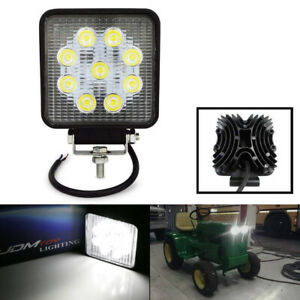 4 27w 2300 Lum High Power Led Work Light Lamps For Suv 4x4 Truck Tractor Boat
