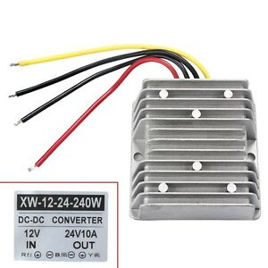 New Waterproof 12v To 24v Dc dc Step Up Power Supply Converter 10a 240w Great