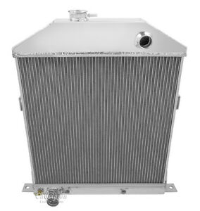 1942 1948 Ford Mercury Coupe Aluminum 3 Row Champion Radiator