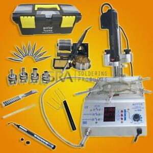 Aoyue 866 Soldering Iron Station Hot Air And Preheating Station 220 Volts