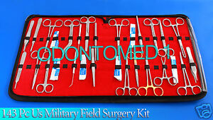 143 Pc Us Military Field Minor Surgery Surgical Veterinary Dental Instrument Kit