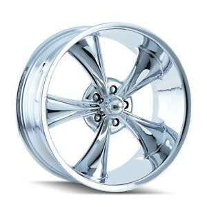 Cpp Ridler Style 695 Wheels 17x8 Front 18x9 5 Rear 5x5 Chrome