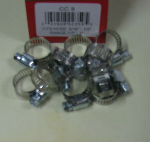 Stainless Steel Band Hose Clamp 1 2 1 Amgauge 8 Clamps 10 Pieces