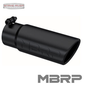 Mbrp Exhaust Tip 3 Inlet 3 5 Outlet 10 Length Angle Rolled Black T5115blk