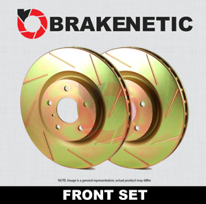 Front Set Brakenetic Sport Slotted Brake Rotors Cobra Bns61044 Ss