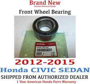 2012 2015 Honda Civic Sedan Si Ex l Genuine Factory Oem Front Wheel Bearing