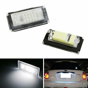 Direct Fit White Led License Plate Lights Lamps For Mini Cooper Mki R50 R52 R53