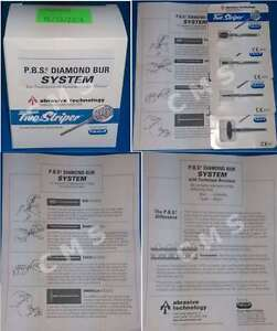 Premier Two Striper Pbs Podiatry Diamond Bur System Box Kit Technique Brochure