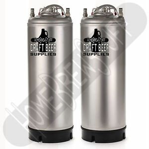 2 Brand New 5 gallon Kegs W Ball Lock Post Homebrew Draft Beer Soda Tonic Water