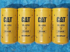 4 New Cat 1r 0751 Fuel Filters Sealed Made In Usa Caterpillar 1r0751 Oem