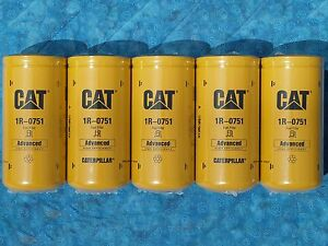 5 New Cat 1r 0751 Fuel Filters Sealed Made In Usa Caterpillar 1r0751 Oem