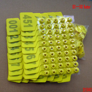 001 500 Number Animal Cattle Use Ear Tag Livestock Tags Labels Cattle Special