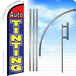 Auto Tinting Windless Swooper Flag 15 Kit Feather Banner Sign Bf