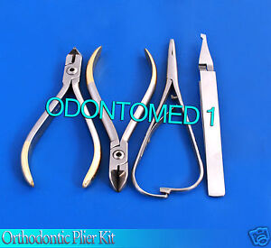 Orthodontic Pliers Kit Wire Cutter distal End matheiu Ligature bracket Tweezers