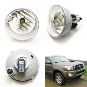 Complete Clear Lens Fog Lights W H10 Halogen Bulbs For Toyota Tacoma Tundra Etc