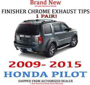 1 Set 2009 2015 Honda Pilot Chrome Exhaust Finisher
