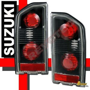 88 98 Suzuki Sidekick Black Tail Lights Lamps 1 Pair 89 92 93 94 96