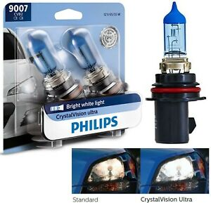 Philips Crystal Vision Ultra 9007 Hb5 65 55w Two Bulbs Head Light High Low Beam