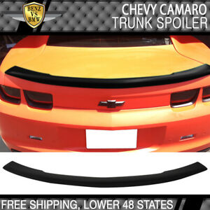 Fits 10 13 Chevy Camaro Flush Mount Trunk Spoiler Wing Abs Painted Matte Black