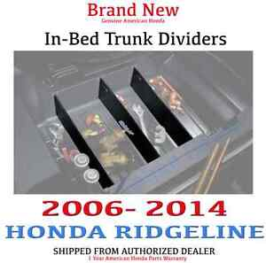 Genuine Oem Honda Ridgeline In bed Trunk Dividers 2006 2014 08u35 sjc 120
