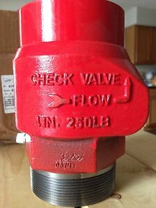United Model 68 4 M X F Check Valve Assembly For Gas Oil Water Threaded