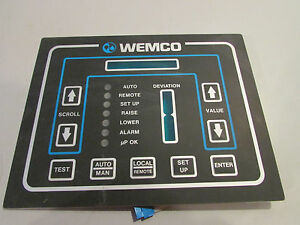 Wemco Pump Controller Display Panel Push Button Face Plate 9 X 7 New