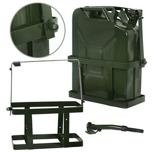 Jerry Can 5 Gallon 20l Fuel Army Nato Military Metal Steel Tank Holder