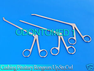3 Assorted Cushing Pituitary Rongeurs 5 2mm up str down Ent Surgical Instrument