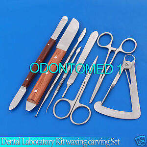 Dental Laboratory Technicians Kit Waxing Carving Instruments Stainless Steel