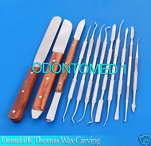Dental Laboratory Technician Kit P k Thomas Wax Carving Plaster Knife Spatula