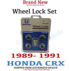 1989 1991 Honda Crx New Genuine Wheel Lock Set