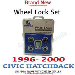 1996 2000 Honda Civic Hatchback New Genuine Wheel Lock Set