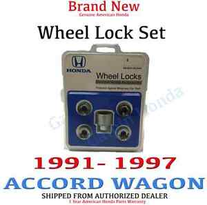 1991 1997 Honda Accord Wagon New Genuine Wheel Lock Set