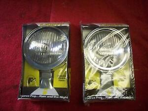 Vintage 1970 S Nos Perfection Auto Products Fog Driving Lamps In Orig Boxes Pr