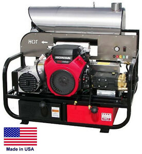 Pressure Washer Hot Water Skid Mounted 5 5 Gpm 3000 Psi 18 Hp Vangua 115v