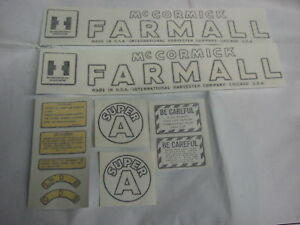 Ihc Farmall Model Super A Tractor Decal Set Vinyl Cut New Free Shipping