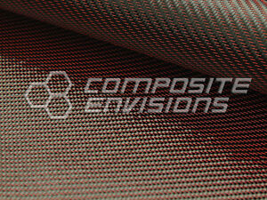 Red Mirage Carbon Fiber Cloth Fabric 2x2 Twill 50 3k 290gsm 8 6oz Hd