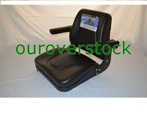 Universal Tractor Seat W Slide Tracks T500bl Kubota Ford Case Ih Allis Mf Jd