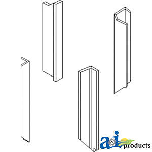 Compatible With John Deere Kit Cab Post Upholstry Re155149 b 4960 4955 4760 4755