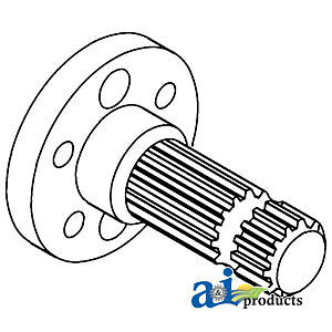Compatible With John Deere Pto Shaft 1000 Rpm Ar28573 3010 4010