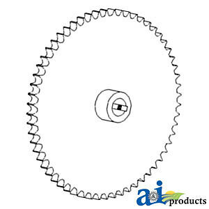 Compatible With John Deere Sprocket Assy Ah140001 9880sts 60 tooth 9860sts 60